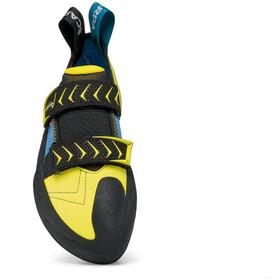 Scarpa Vapor V Pies de gato Hombre, ocean/yellow